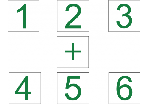 Extension Package 4 - 32 Pieces - Counting Numbers 1,2,3,4,5,6 and + Signs